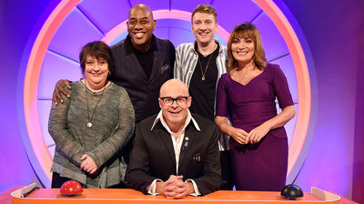 Kathy Burke, Lorraine Kelly, Ainsley Harriot, Joe Lycett