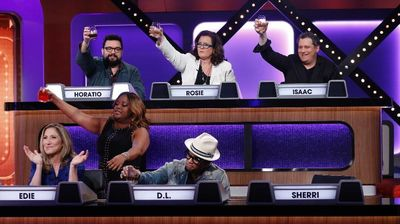 Rosie O'Donnell, Sherri Shepherd, Horatio Sanz, Isaac Mizrahi, Edie Falco, and D.L. Hughley