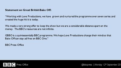 Breaking News: BBC Loses Rights to 'Great British Bake Off' to Channel 4