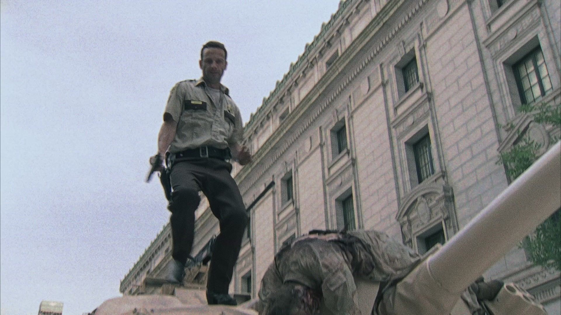 Rick causes walkers to trap a group of survivors.  As Rick must face an enemy a lot more dangerous, the group dynamic devolves from accusations to violence.