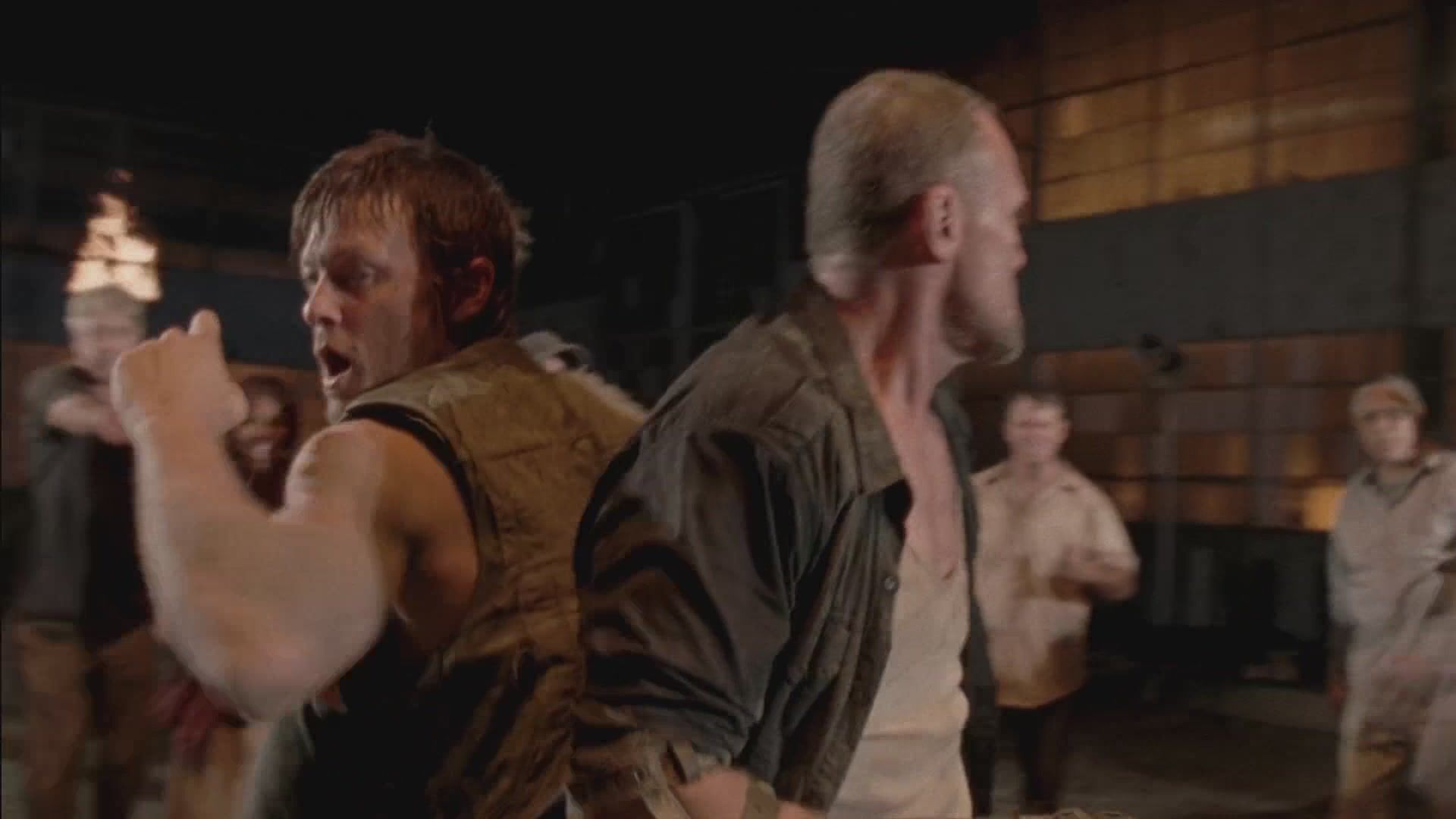 After the invasion of Woodbury by Rick's group, Daryl and Merle are captured by The Governor. Rick decides the fate of Tyreese's group.