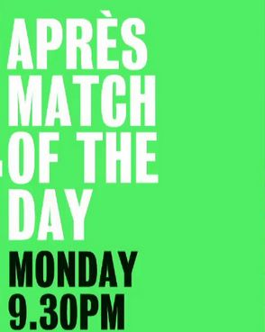 Apres Match of the Day cover