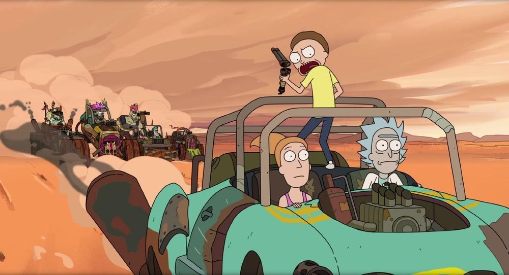 Rick, Morty and Summer travel to a post-apocalyptic dimension and meet some dangerous enemies.