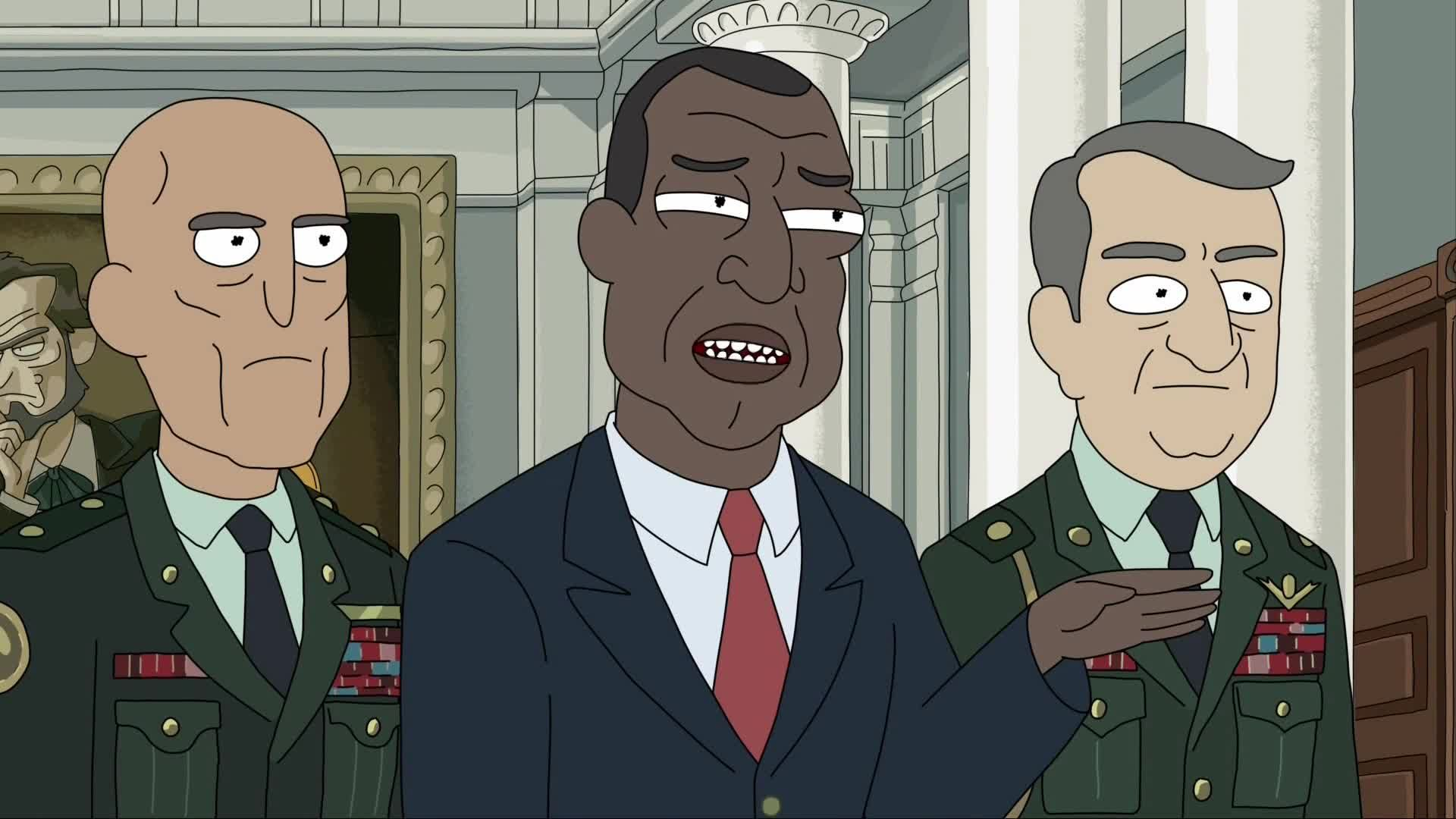 Rick goes on a confrontation with the President.