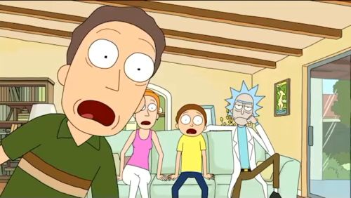 Rick hacks the cable box, but the family are distracted by another one of his inventions.