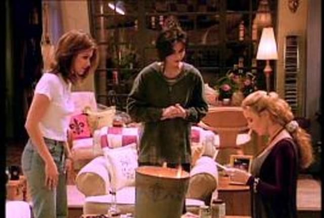 the one with the candy hearts friends s01e14 tvmaze. Black Bedroom Furniture Sets. Home Design Ideas