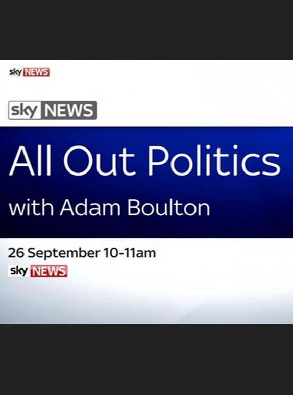 All Out Politics with Adam Boulton cover