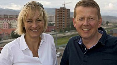 Bill Turnbull and Louise Minchin