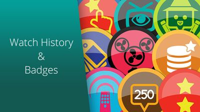 Watch History & New badges