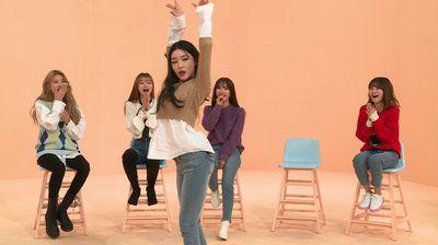 Sowon (GFriend), YooA (Oh My Girl), Bona (Cosmic Girls), Ahn Ji-young (Bolbbalgan4) and Chungha