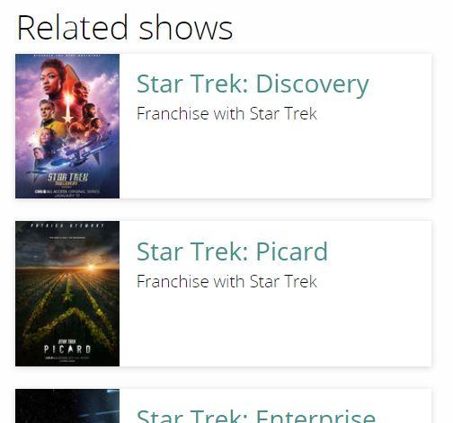 related shows star trek
